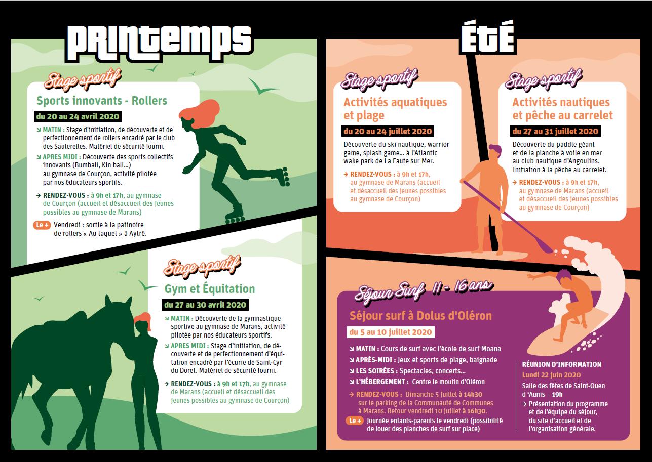 Pass'Sports Vacances : Printemps - Été